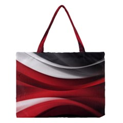 Lines Red Medium Tote Bag
