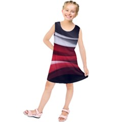 Lines Red Kids  Tunic Dress