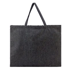 Linen Solid Fabric Zipper Large Tote Bag