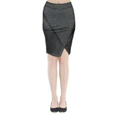 Linen Solid Fabric Midi Wrap Pencil Skirt