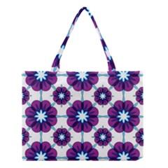 Link Scheme Analogous Purple Flower Medium Tote Bag
