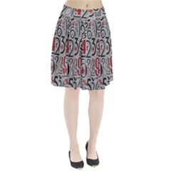 Number Pleated Skirt
