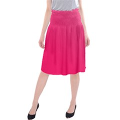 Pink Color Midi Beach Skirt