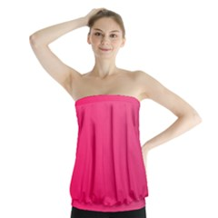 Pink Color Strapless Top