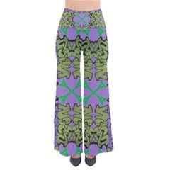 Paris Eiffel Tower Purple Green Pants