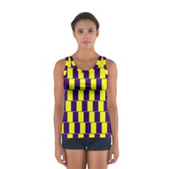 Preview Wallpaper Optical Illusion Stripes Lines Rectangle Women s Sport Tank Top