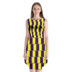Preview Wallpaper Optical Illusion Stripes Lines Rectangle Sleeveless Chiffon Dress