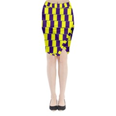 Preview Wallpaper Optical Illusion Stripes Lines Rectangle Midi Wrap Pencil Skirt