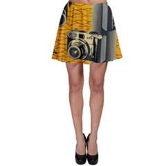 Photo Camera Skater Skirt