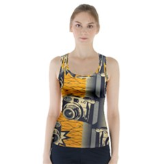 Photo Camera Racer Back Sports Top