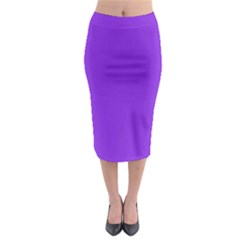 Purple Color Midi Pencil Skirt