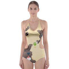 Puppy Dog Cut-Out One Piece Swimsuit