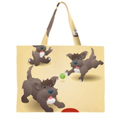 Puppy Dog Large Tote Bag