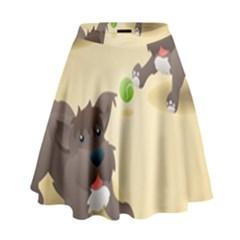 Puppy Dog High Waist Skirt