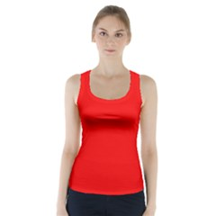 Red Color Racer Back Sports Top
