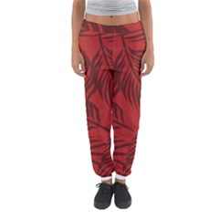 Red Palm Women s Jogger Sweatpants