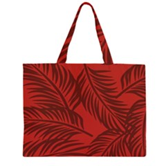 Red Palm Large Tote Bag