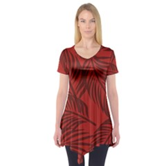 Red Palm Short Sleeve Tunic