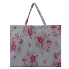 Rose Zipper Large Tote Bag