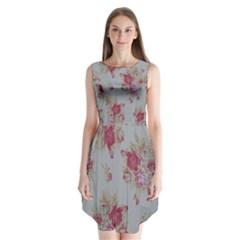Rose Sleeveless Chiffon Dress