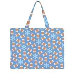 Snow Pillow Large Tote Bag
