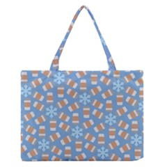 Snow Pillow Medium Zipper Tote Bag