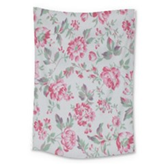 Rose Red Flower Large Tapestry