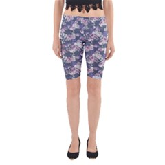 Simple Flower Yoga Cropped Leggings