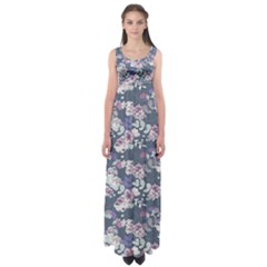 Simple Flower Empire Waist Maxi Dress
