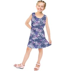 Simple Flower Kids  Tunic Dress