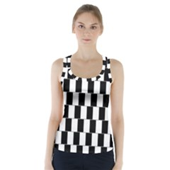 Wallpaper Line Black White Motion Optical Illusion Racer Back Sports Top