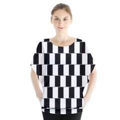 Wallpaper Line Black White Motion Optical Illusion Blouse