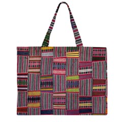 Strip Woven Cloth Color Large Tote Bag