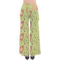 Organic Geometric Design Love Flower Pants