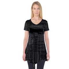 Wallpapers Stereogram Texture Pack Short Sleeve Tunic