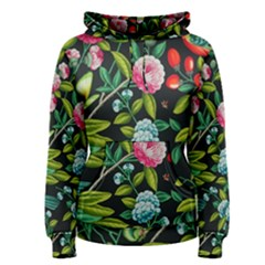 Tropical And Tropical Leaves Bird Women s Pullover Hoodie
