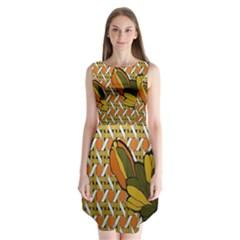 Lattice Sleeveless Chiffon Dress