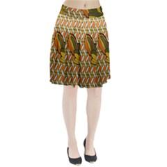 Lattice Pleated Skirt
