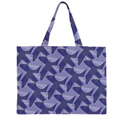 Incid Mono Geometric Shapes Project Blue Large Tote Bag