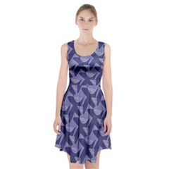 Incid Mono Geometric Shapes Project Blue Racerback Midi Dress
