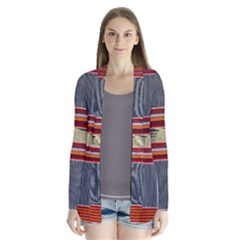 Strip Woven Cloth Cardigans