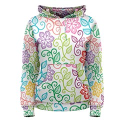 Texture Flowers Floral Seamless Women s Pullover Hoodie