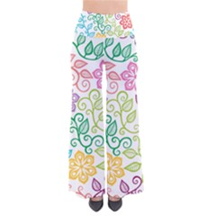Texture Flowers Floral Seamless Pants