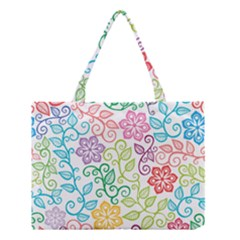 Texture Flowers Floral Seamless Medium Tote Bag
