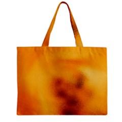 Blurred Glass Effect Zipper Mini Tote Bag