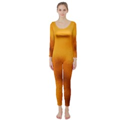 Blurred Glass Effect Long Sleeve Catsuit