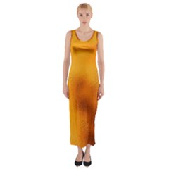 Blurred Glass Effect Fitted Maxi Dress