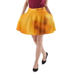 Blurred Glass Effect A-Line Pocket Skirt