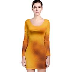 Blurred Glass Effect Long Sleeve Velvet Bodycon Dress