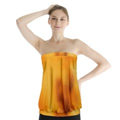 Blurred Glass Effect Strapless Top